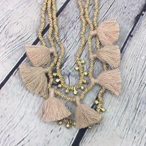 5/$25 Victorian triple strand tassel gold tone